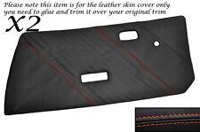 Cuciture color arancio 2x Porta Carte CUOIO PELLE copre gli accoppiamenti FIAT X1 / 9 X19 73-89