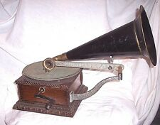 COLUMBIA AJ PHONOGRAPH WITH FANCY CASE , GREAT RUNNING MACHINE