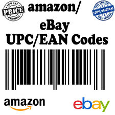 100 UPC Numbers Barcodes Bar Code Number 100 EAN for any marketplace worldwide