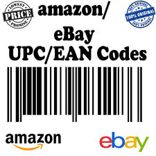 500 UPC/EAN code Numbers Barcodes GS1 approve Lifetime Guarantee for eBay amazo