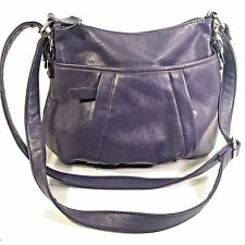 GUC NINE & CO Shoulder Bag Purse Purple VEGAN Faux Leather 10X13X3
