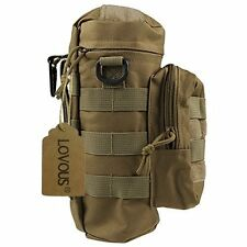 Military MOLLE Tactical Travel Water Bottle Kettle Pouch Carry Bag Case for Tan