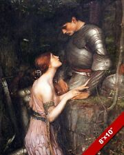 YOUNG WOMAN & SOLDIER KNIGHT IN ARMOR OIL PAINTING ART REAL CANVAS GICLEEPRINT