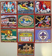 2010 National Boy Scout Jamboree 2013 2017 BSA 100th Daily Patch Full Set of 10