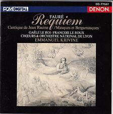 Faure Requiem Op.48 Krivine CD Album Japan