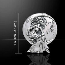 Moon Queen Fairy .925 Sterling Silver Pendant by Peter Stone