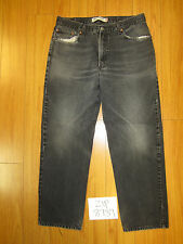 Used 550 relaxed fit black levi's jean tag 38x34 meas 36x31.5 zip8739