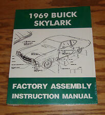 1969 Buick Skylark Factory Assembly Instruction Manual 69