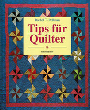 Pellman, Tips f Quilter, Quilt Amish-Quilts, Quilting, Patchwork, ill. Ratg 1996