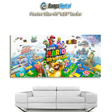 "Super Mario 3D World HD Photo Poster RD-7625 (49""x23"" Inches)"