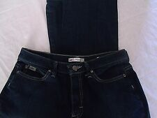 Womens LEE Relaxed Bootcut Denim Jeans Size 8 Short Cotton Spandex Stretch B22