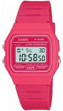 Genuine Casio F-91W Resin Classic Retro Digital Watch Alarm Stopwatch Pink NEW