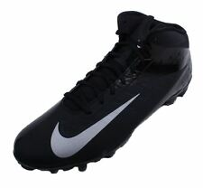 Nike Vapor Talon Elite 3/4 Mens Black/Metallic Silver Football Cleats size 13.5