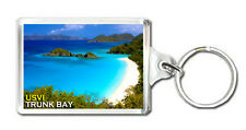 TRUNK BAY ST JOHN US VIRGIN ISLANDS KEYRING SOUVENIR LLAVERO