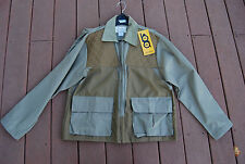 NWT Tan BOB ALLEN Zip Front Gun Club Jacket Medium