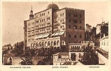 CPA ESPAGNE ANDALUCIA GRANADA ALHAMBRA PALACE HOTEL CASINO
