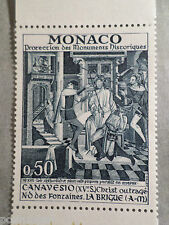 MONACO 1972, timbre 906, TABLEAU FRESQUE CANAVESIO, PAINTING, neuf**, MNH STAMP