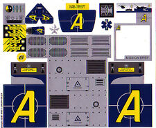 LEGO 8635 - AGENTS - Mission 6: Mobile Command Center STICKER SHEET - SHEET #1