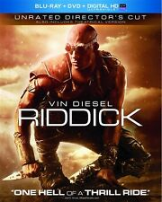 RIDDICK New Sealed Blu-ray + DVD Unrated Director's Cut Vin Diesel