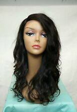 100 % Brazilian Remy Human Hair, Lace Front Wig, color : natural black
