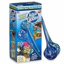 Aqua Globes 2 Pack Decorative Watering Bulbs Plants Hand Blown Glass