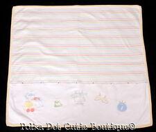 Little Me Yellow Stripe Sweet Lil' Bundle Cotton Baby Blanket EUC