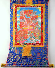 "32"" BLESSED BROCADE SCROLL TIBETAN THANGKA Ekajati Rahula Dorje Legpa of Nyingma"
