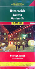 NEW 2008~MAP of AUSTRIA, Freytag & Berndt~64-pg.Index Booklet, Detail City Maps