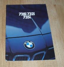 BROCHURE BMW 7 Series e23 728i 732i 735i 1980