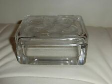 LALIQUE GLASS COVERED LIDDED  CIGARETTE BOX FLOWERS DESIGN