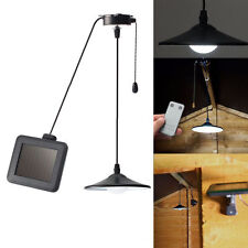 Solar Powered Shed Patio Light Outdoor String Led Hanging Lamp with Remote