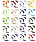 3 Metre Double Sided Satin Ribbon 3mm 6mm 10mm 15mm 25mm 38mm 50mm Many Colours