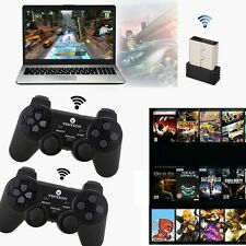 2 x 2.4G USB Wireless Dual Vibration Gamepad Controller Joystick For PC Laptop