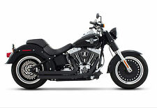 Rinehart Racing Black Pipes & End Caps Exhaust Pipes Harley Softail 2012-2017