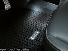 GENUINE OEM SMART CAR RIBBED CARPET FLOOR MATS BLACK 08-15 FORTWO