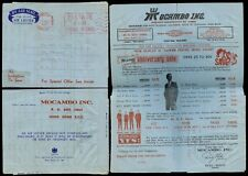 HONG KONG 1969 AIR LETTER POST PAID MACHINE METER to USA...MOCAMBO