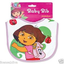 DORA THE EXPLORER! DORA LA EXPLORADORA! BABY BIB! DORA & HER BACKPACK! NEW!
