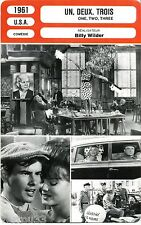 Fiche Cinéma Movie Card. Un, deux, trois/One, two, three (USA) 1961 Billy Wilder