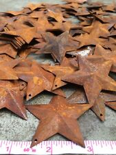 """(150) 2.5 in 2 1/4"""" 64mm Dimensional Rusty Barn Stars Metal Rust Country Craft *"""