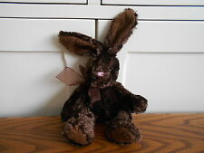 BROWN BUNNY RABBIT beanie soft toy, plush/comforter RUSS Easter Bunnies