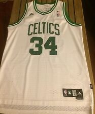 Paul Pierce Boston Celtics NBA Sewn Men L White Adidas Garnett Allen Bird #34