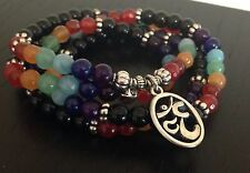 108 Mala Chakra Bracelet or Necklace 7 Chakra Yoga Meditation Women Pure Natural