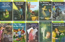Nancy Drew Series Hard Cover Collection Set 1-10 Mystery Detective Story Books!!