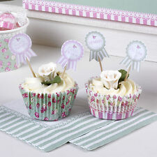 20 FOOD FLAGS CUPCAKE SANDWICH STICKS Frills Spills Vintage Wedding Party