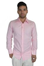 Dolce & Gabbana Pink Long Sleeve Dress Fitted Shirt US 15 IT 38