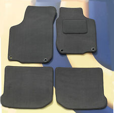 VW GOLF MK4 & V5 97 - 04 GREY CARPET CAR  MATS WITH 4 ROUND CLIPS, SET OF 4