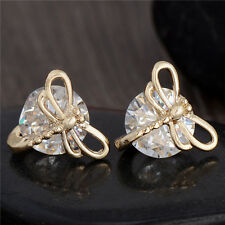 Cute design 18K gold filled Dragonfly cubic zirconia lady's stud earrings