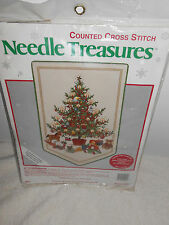 Counted Cross Stitch Banner Kit Christmas Tree Toys  Needle Treasures NOS