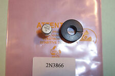2N3866 RF power ransistor WITH HEATSINK  TO-39 28V Pt 1W  Ft 500Mhz Qty 1 NOS
