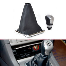 Popular Black 5 Speed Gear Shift Knob Gaitor Boot Cover For 2005-2008 Ford Focus